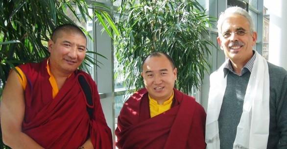 Lama Kunga Dorje und Tulku Damcho Rinpoche  2013 in Münster